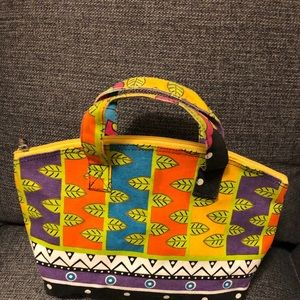 80's Vintage Laurel Burch Canvas Bag